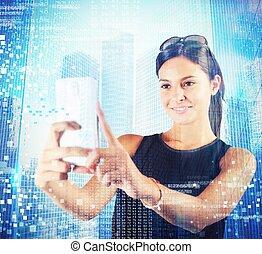 technológia, futuristic