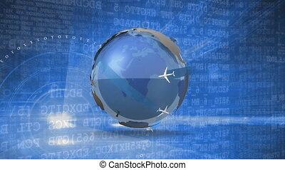 technológia, globális, feldolgozás, adatok