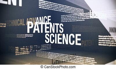 technológia, patents, kapcsolódó, kikötések