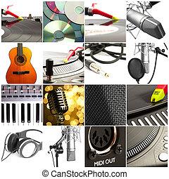 technológia, zenemű
