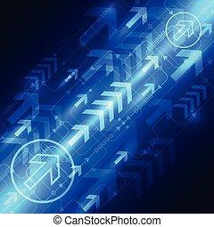 technologia, abstrakcyjny, wektor, tło, cyfrowy, szybkość