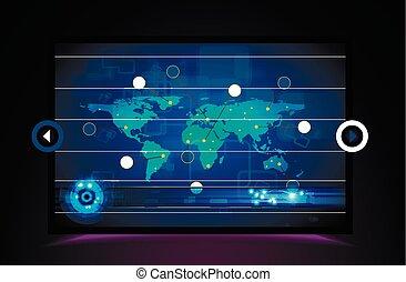 technologia, dane, handlowy