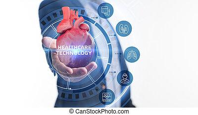 technologia, dane, pomoc, inteligencja, o, patients., diagnosis., healthcare, zdrowie, analiza, nowoczesny, medyczny, sztuczny