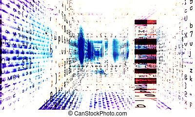 technologia, futurystyczny, cyfrowy