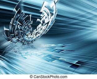 technologia, futurystyczny