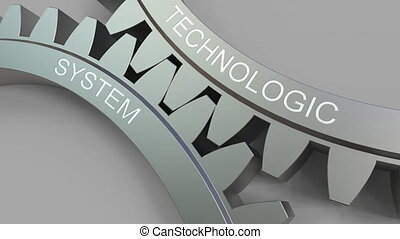 TECHNOLOGIC SYSTEM words on meshing gears. Conceptual...