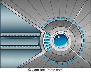 Technological background, vector illustration