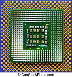 Technological background with central processing units