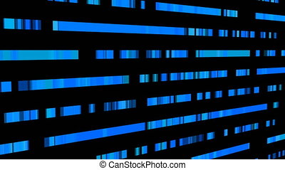 Technological background with fast motion of rectangles. Abstract blue backdrop