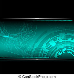 Technological background with metallic banner. Vector...