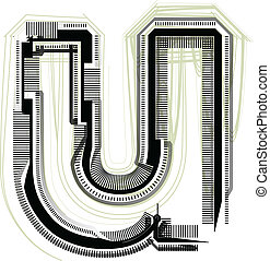 technological font. LETTER u
