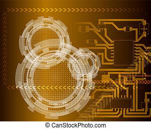Technological futuristic