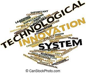 Technological innovation system - Abstract word cloud for...