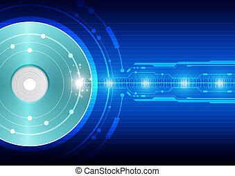 technologie, écriture, disque