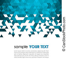 technologie, abstract, driehoek, achtergrond