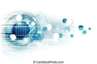 technologie, abstrakt, abbildung, vektor, hintergrund, geschwindigkeit, concept.