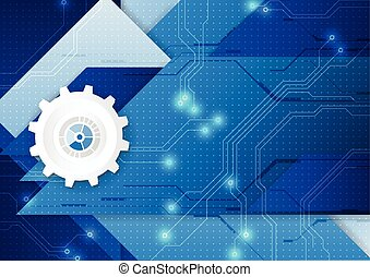 technologie, abstrakt, digital, backgro