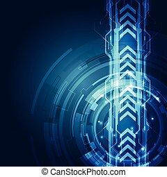technologie, abstrakt, vektor, hintergrund, geschwindigkeit, concept.