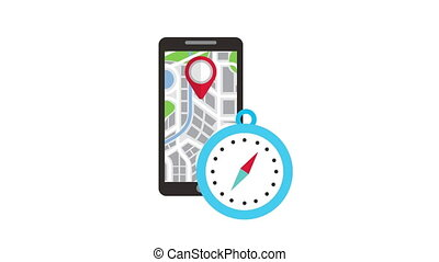 technologie, application, gps, smartphone