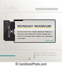 technologie, arrière-plan noir