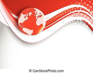 technologie, arrière-plan rouge
