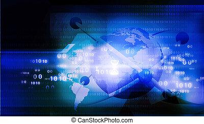 technologie, atome, fond, résumé