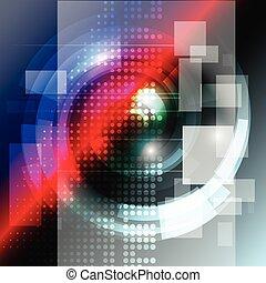 technologie, begriff, abstrakt, vektor, hintergrund