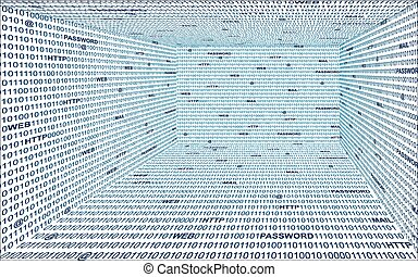 technologie, binaire, fond