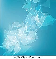 technologie, business, résumé, maille, fond, réseau