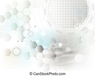 technologie, concept, abstract, achtergrond, vector