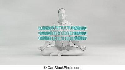 technologie, concept, fond, futuriste, résumé, numérique