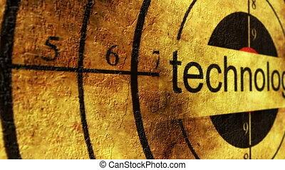 technologie, concept, grunge, cible