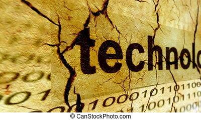 technologie, concept, grunge