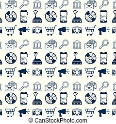 technologie, conception, fond, internet
