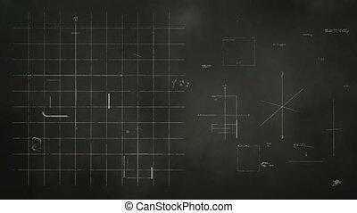 technologie, conception, tableau noir