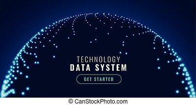 technologie, connexion, concept, bannière, réseau