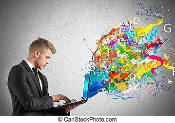 technologie, créatif