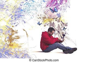 technologie, creatief
