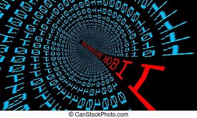 technologie, data, tunnel