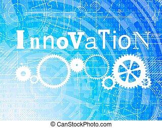 technologie de pointe, fond, innovation