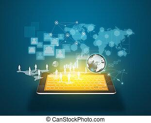 technologie, en, sociaal, media
