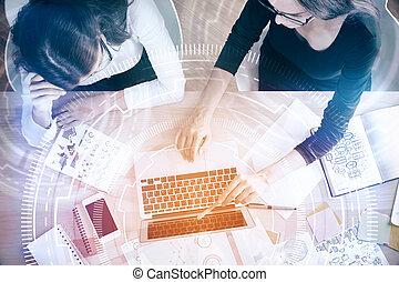 technologie, et, innovation, concept