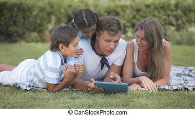 technologie, famille
