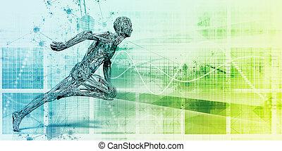 technologie, fitness