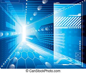 technologie, fond, 3d
