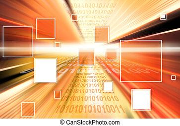 technologie, fond, l