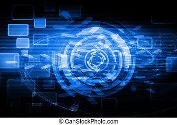 technologie, futuriste, fond
