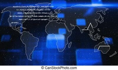 technologie, global, traitement, données