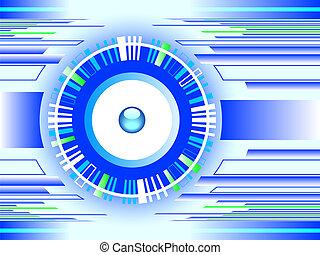 technologie, hintergrund, blaues, abstrakt