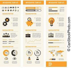 technologie, infographic, communie